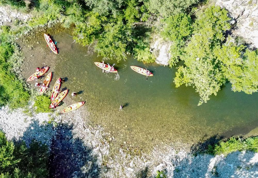 kayaking corse kayak riviere golo famille in terra corsa-5